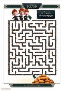 Disney/Pixar's Printable BRAVE Castle Maze