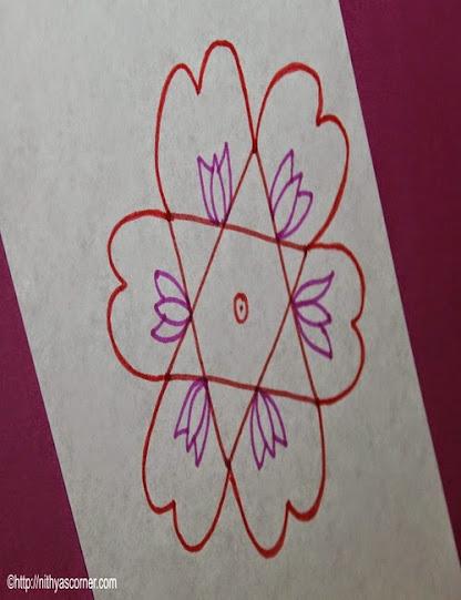 Easy Apartment Flower Kolam
