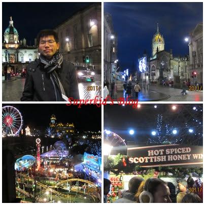 愛丁堡的聖誕市集