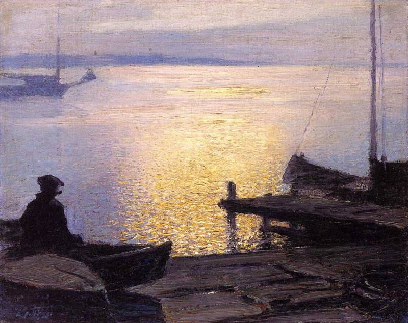 Edward Henry Potthast - Along the Mystic River