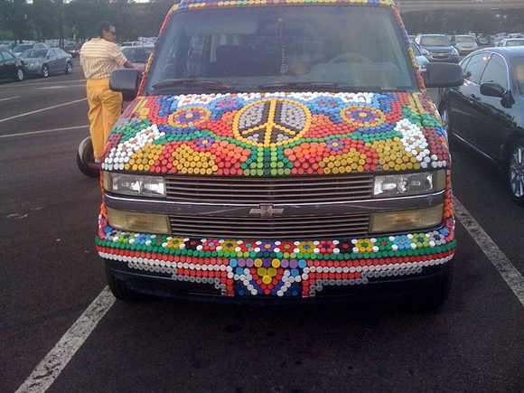 Bottle Cap Van front