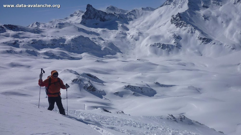 Avalanche Queyras, secteur Pointe des Sagnes longues, Juste sous la créte de la Grande Sagne longue - Photo 1 - © Bruno