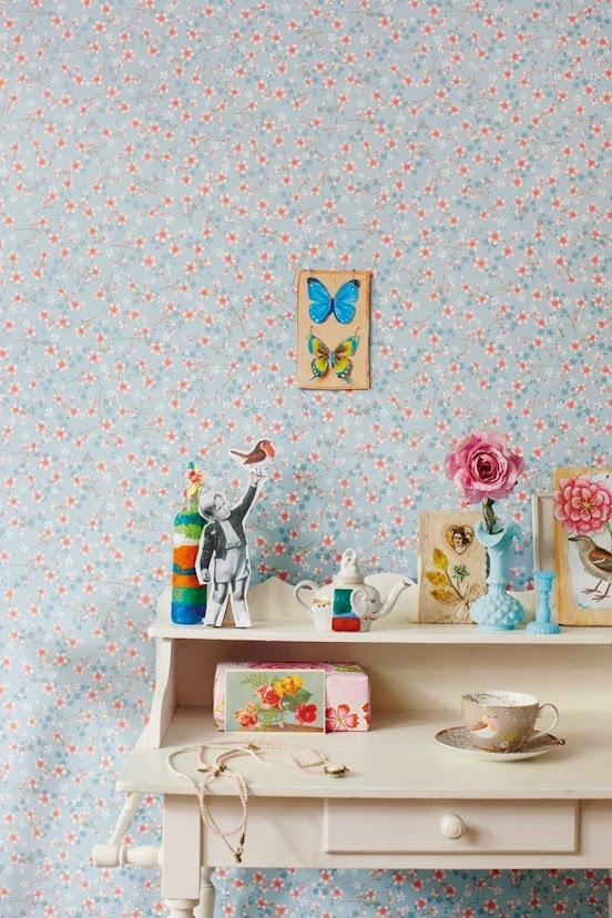 Tienda online telas papel paredes llenas de flores - Catalogo papel paredes ...