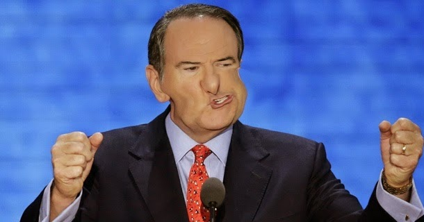 Mike Huckabee's arse backwards analogy
