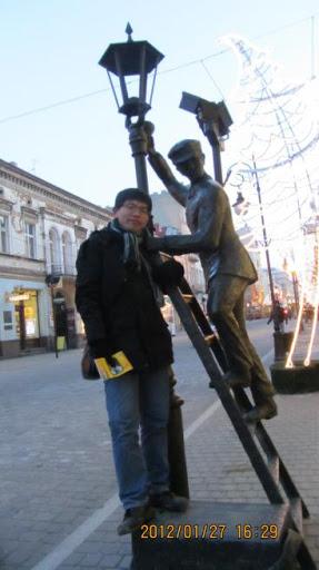 我在Łódź的ulica Piotrkowska