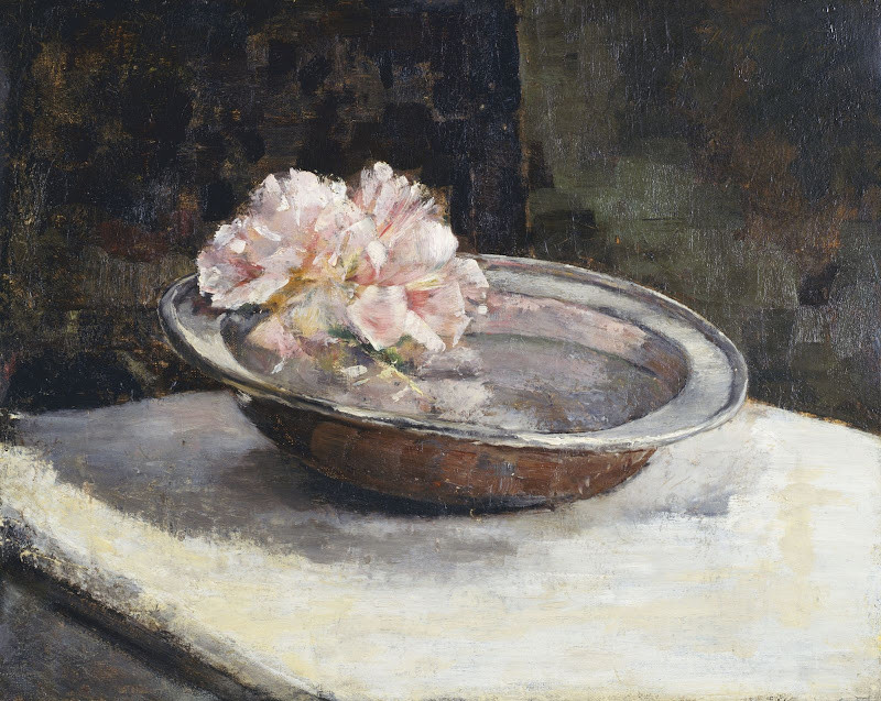 Abbott Handerson Thayer - Still Life with Rhododendron
