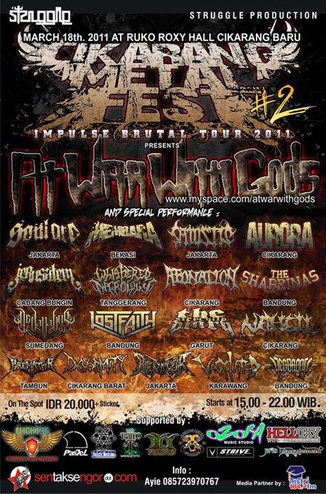 CIKARANG METAL FEST #2 IMPLUSE BRUTAL TOUR 2011
