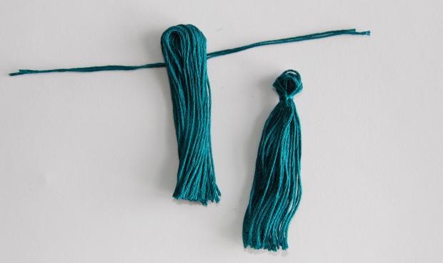 Diy embroidery thread tassel earrings wild amor