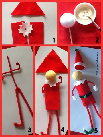 Diy elf on the shelf teach me mommy for Elf shelf craft show