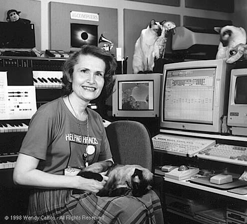 Wendy Carlos and some cats 2