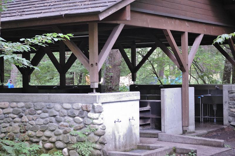 小梨平キャンプ場の炊事場の写真