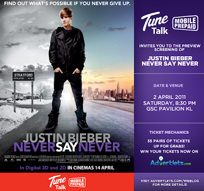 justin bieber movie tickets. 3 ways to Win Justin Bieber