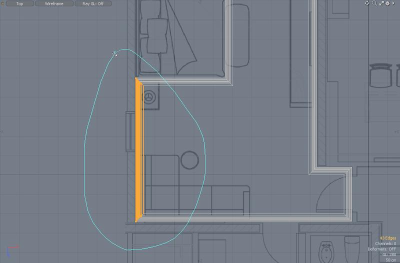 ตัวอย่างการขึ้นโมเดล ชุด Bedroom Interior [วิดีโอตอนที่ 4 มาแล้ว] Modoroom13
