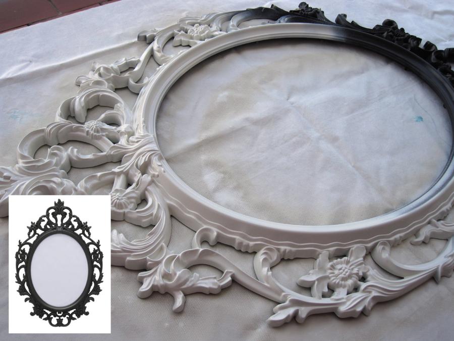 Amandadas ikeando espejo con un marco ung drill for Pintar marco espejo