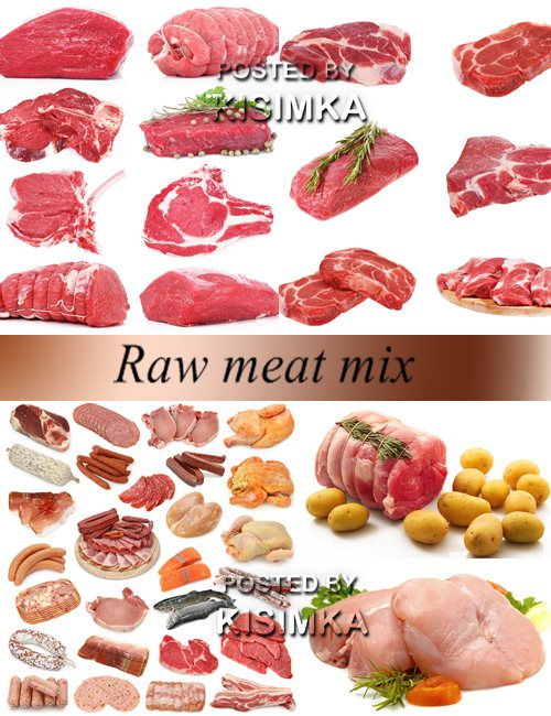 Stock Photo: Raw meat mix