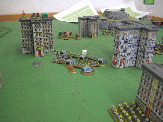 Grey Hunters advance up the middle.
