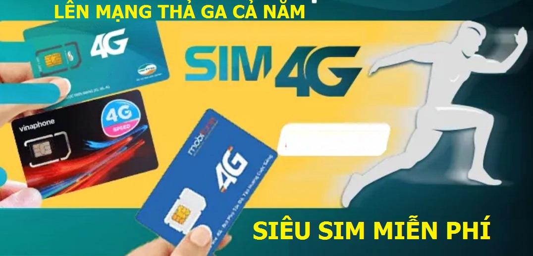 Sim Không giới hạn Dung lượng Viettel, lên mạng cả năm Miễn phí