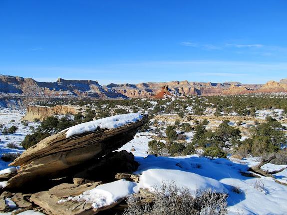 View northwest across Calf Mesa
