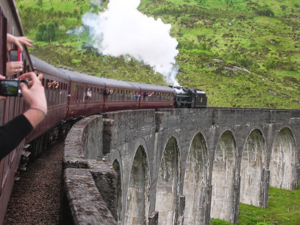 Lo Jacobite Steam sul viadotto di Glenfinnan