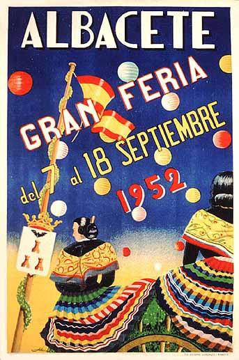 Cartel Feria Albacete 1952