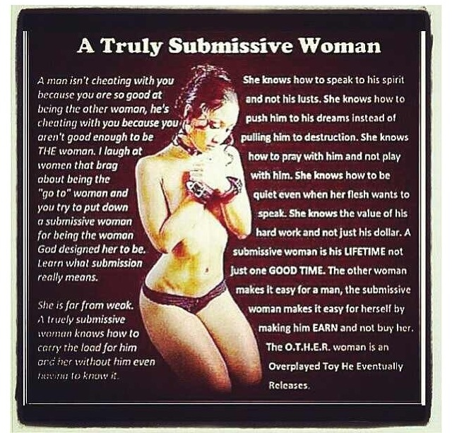 How to train a submissive woman