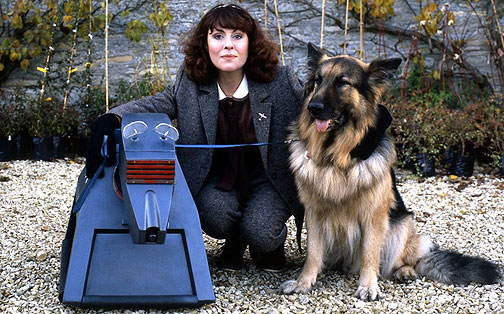 Elisabeth Slade and a dog