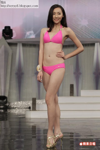 4號變臉邱芳思「2013國際中華小姐競選」泳裝