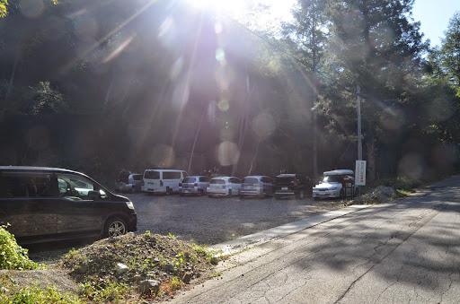 中尾高原の駐車場