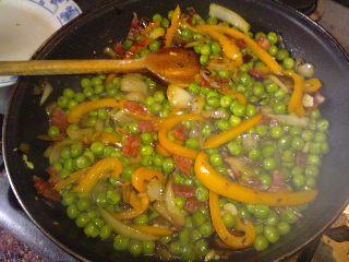 recetas de guisantes con chorizo
