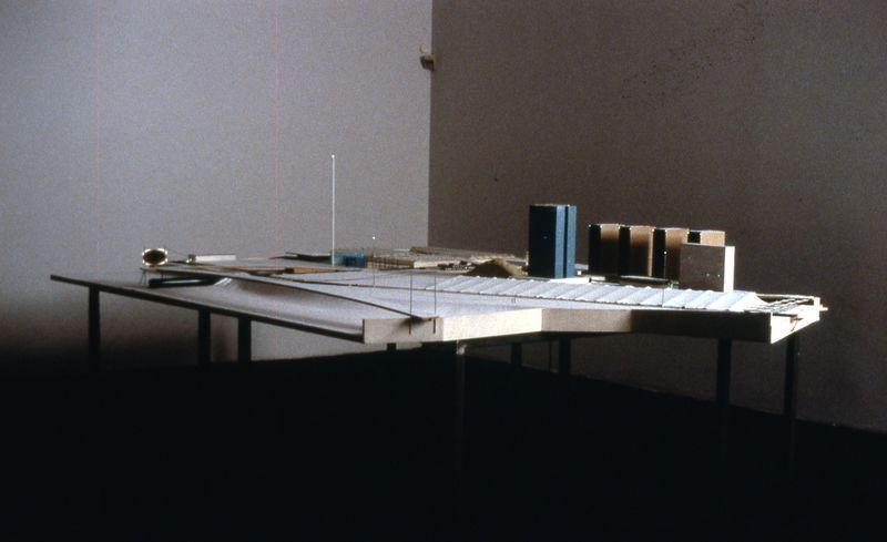 Bertrand Lamarche - Methendal, 1997 - Installation view FRAC Languedoc Roussillon