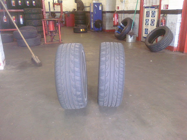 Golf Mk5 rear tyre