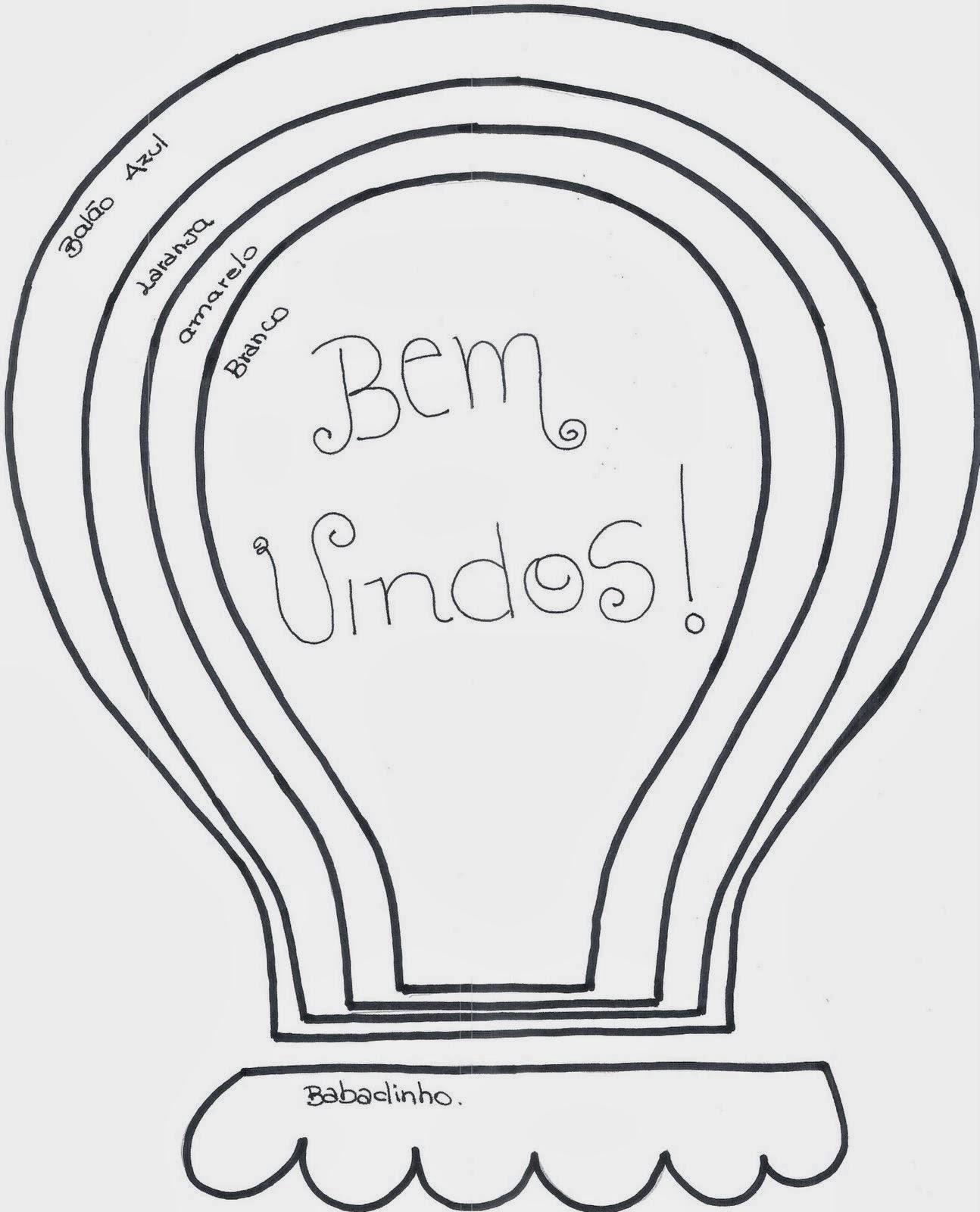 Molde Painel Em Eva Bem Vindos Artesanato Brasil