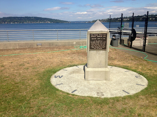 Will Rogers and Wiley Post Memorial at Renton Municipal Airport