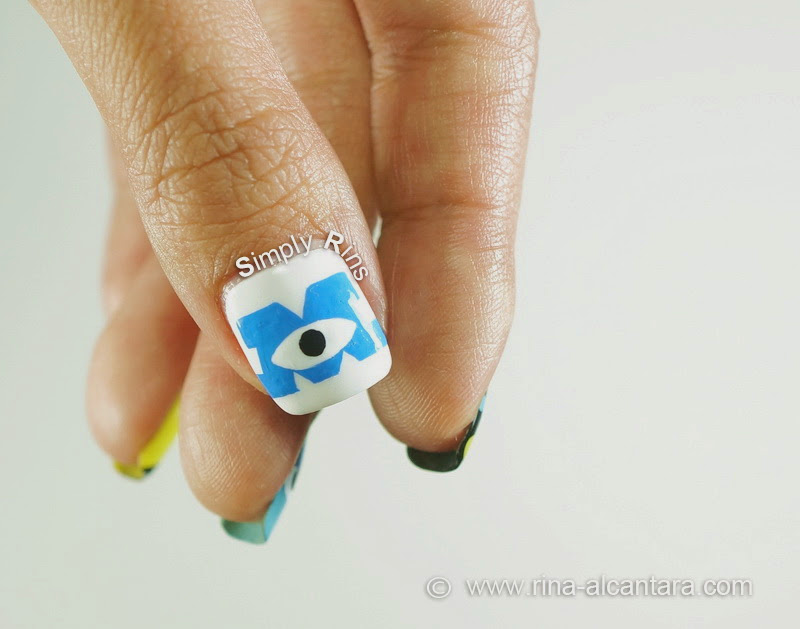 Monsters University Logo Nail Art Design