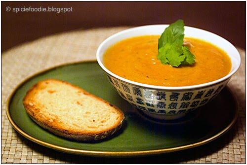 white squash soup