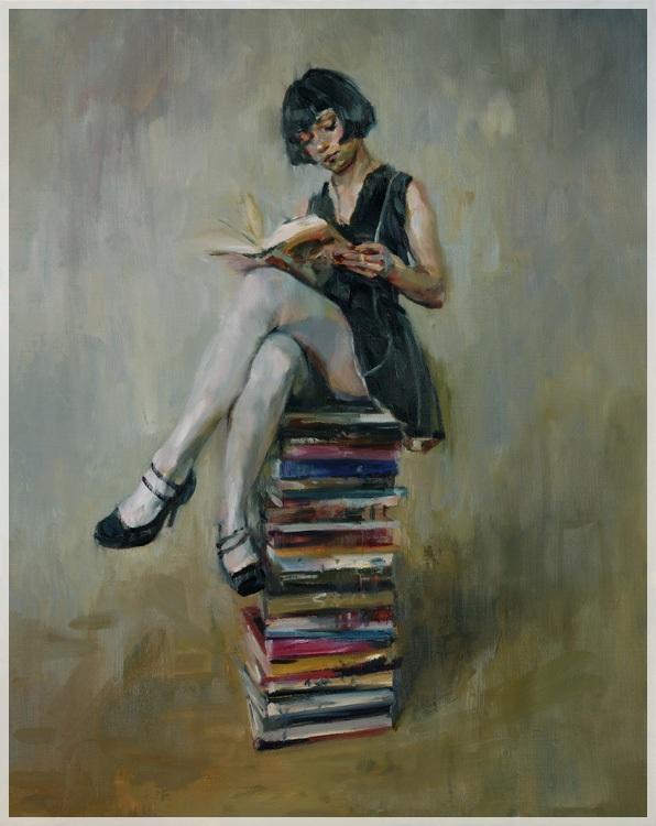 Resultado de imagen para leyendo pintura