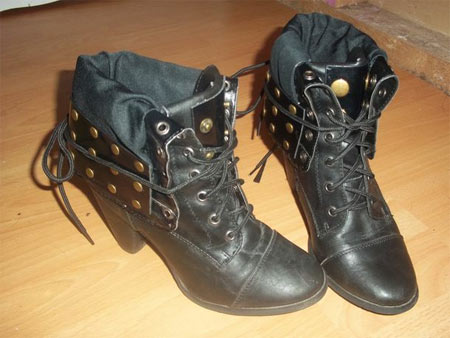 Transformando bota de cano alto em ankle boot