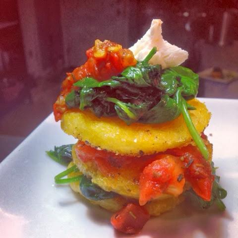 how to cook sliced polenta