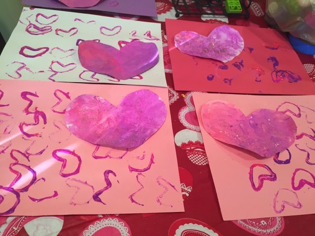 DIY Kids Valentine\'s Day Placemats - Views From a Step Stool