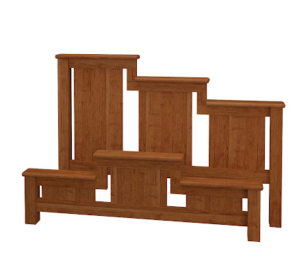 Waterfall Platform Bed in Itasca Maple