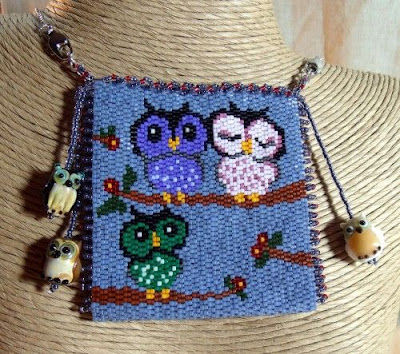 Three Little Owls Purse by Krafty Max Originals