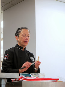Culinary Council Recap: Nancy Silverton, Culinary Council member at the Macy's at Washington Square Dec 14, 2013, starts off with a recipe of Breadsticks with Truffle Butter and Prosciutto, simple to put together in just 5 minutes