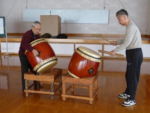 今日も太鼓の練習をしました