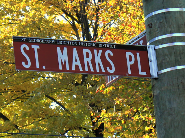 St. Marks Pl. Historic District Street Sign