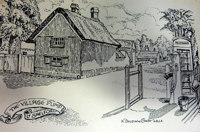 The village pump at the junction of High Street, Hauxton Road and Church Street, Little Shelford