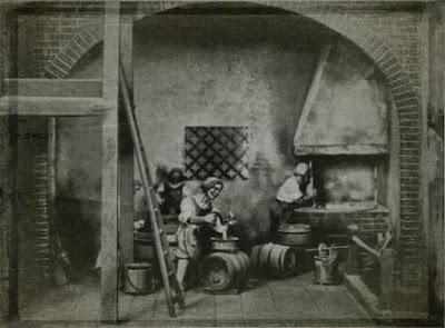 Foto 1: Brauen im Mittelalter. (Aus: Bier — Unser Volksgetränk)