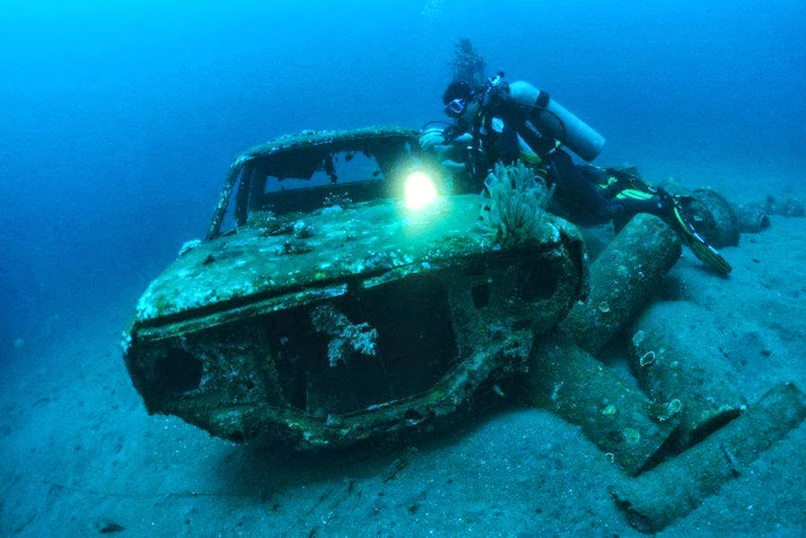 Cars Found Underwater : Silent witnesses of the nd world war are also many