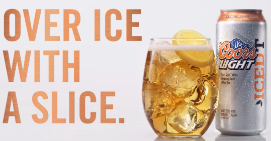 Coors Light Iced T — Over Ice with a Slice