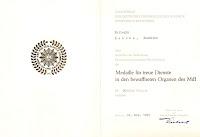 140d Medaille für treue Dienste in den bewaffneten Organen des Ministeriums des Innern für 20 Dienstjahre www.ddrmedailles.nl