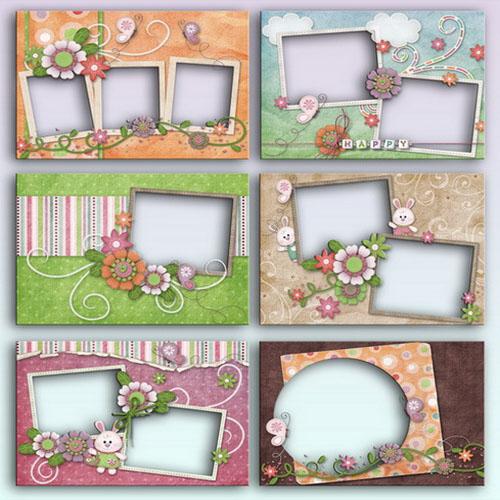 Цветочные рамки для детских фото от Lliella HHoppity
